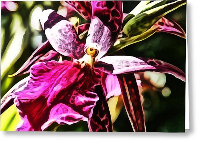 Flower Painting 0002 Greeting Card by Metro DC Photography