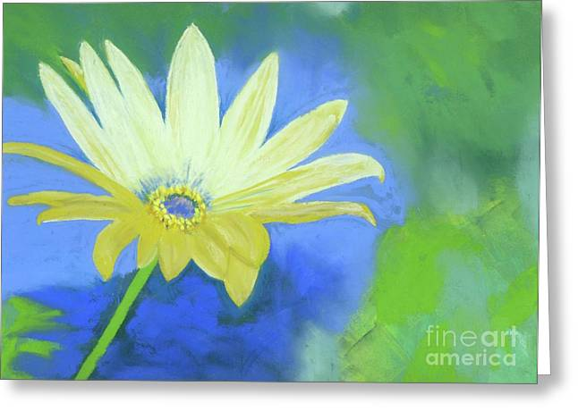 Close Up Floral Pastels Greeting Cards - Flower Power Greeting Card by Ginny Neece