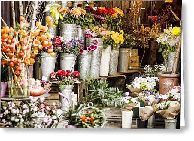 Flower Shop Greeting Card by Heather Applegate