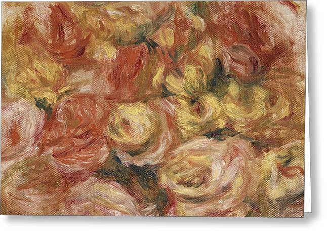 Impressionist Greeting Cards - Flower Sketch Greeting Card by Pierre Auguste Renoir
