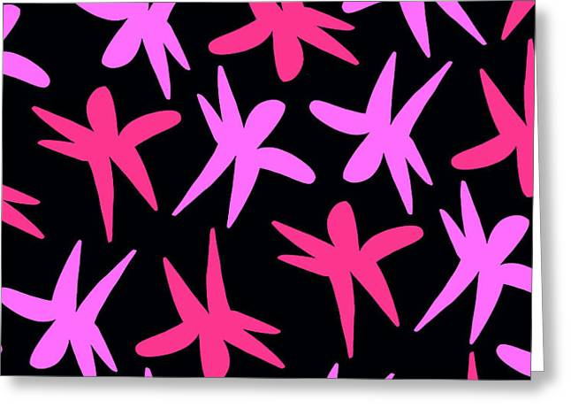 Flower Stars  Greeting Card by Louisa Knight