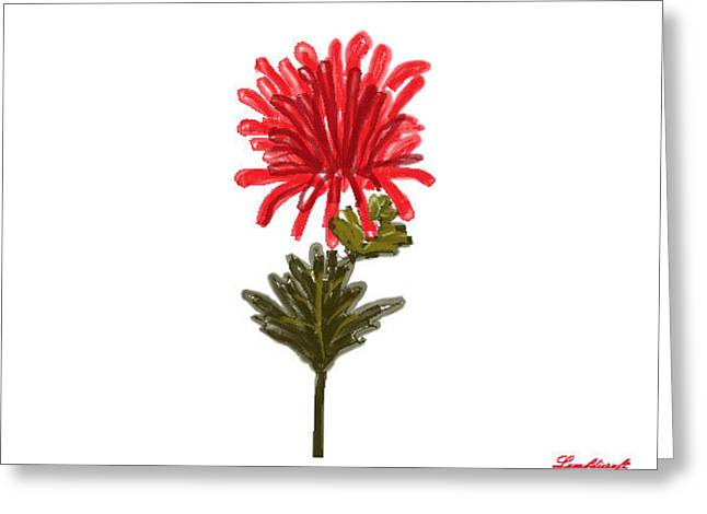 Flower Greeting Card by Watcharee Suebkhajorn