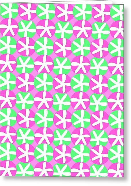 Bold Style Greeting Cards - Flowers and Spots  Greeting Card by Louisa Knight