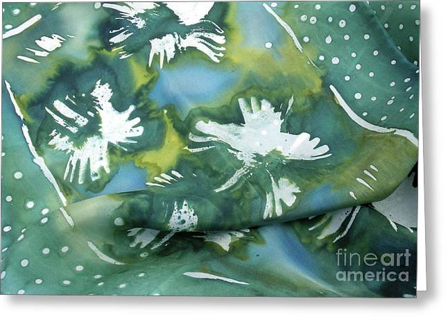 French Tapestries - Textiles Greeting Cards - Flowers floating on the water Greeting Card by Joanna White