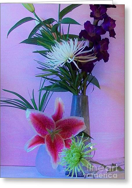 Gladiolas Digital Art Greeting Cards - Flowers From My Daughter Greeting Card by Marsha Heiken