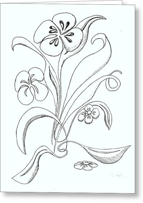 Denny Casto Greeting Cards - Flowers having a good day Greeting Card by Denny Casto