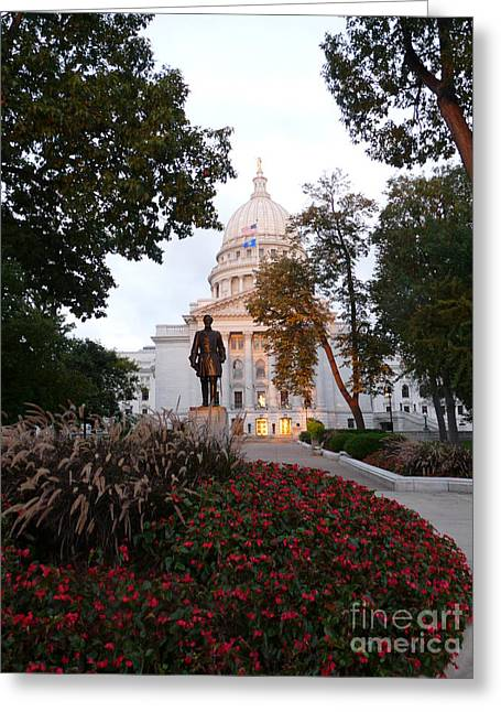 Capitol Flowers Greeting Cards - Flowers in the morning Greeting Card by David Bearden
