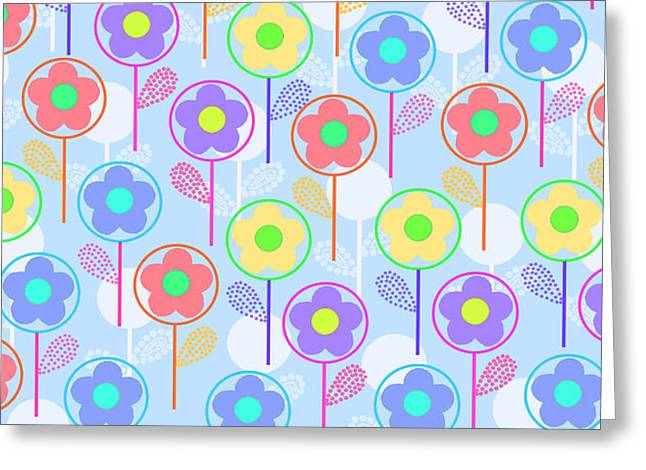 Flowers Greeting Card by Louisa Knight