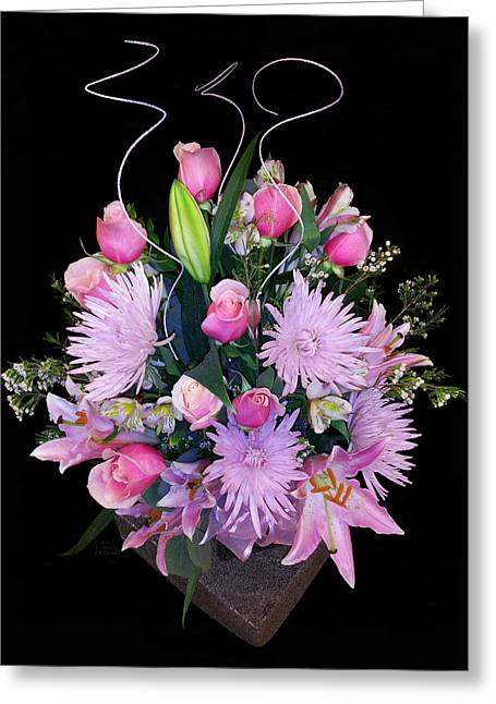 Art By Carl Deaville Greeting Cards - Flowers One Greeting Card by Carl Deaville