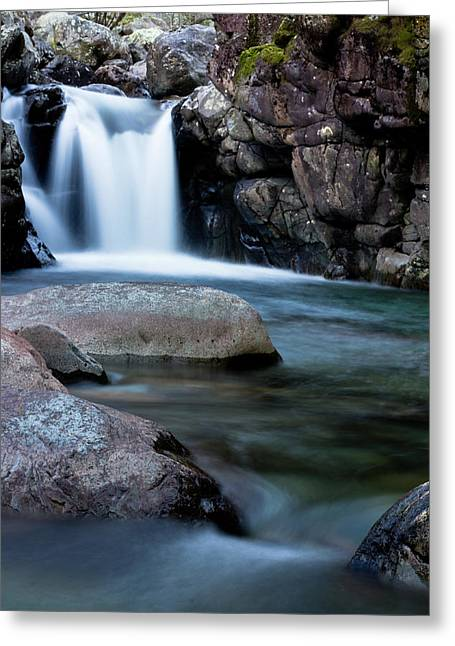 Waterfall Greeting Cards - Flowing Falls Greeting Card by Justin Albrecht