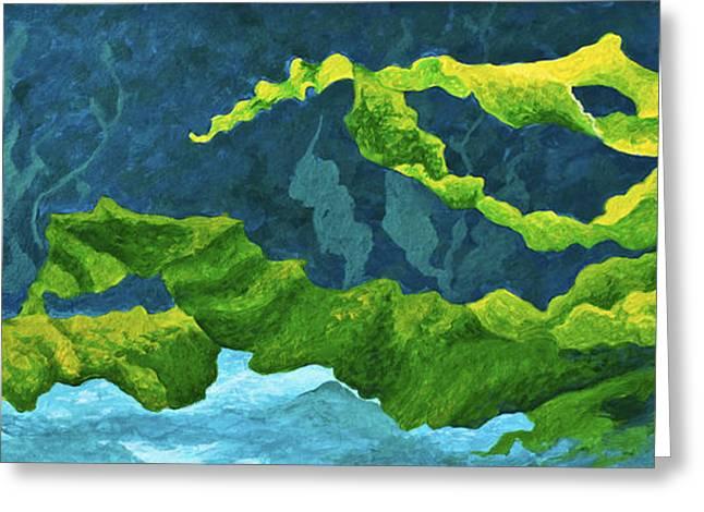 Kelp Greeting Cards - Flowing Kelp Greeting Card by Marion Rose