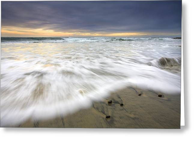 Ominous Greeting Cards - Flowing Stones Greeting Card by Mike  Dawson