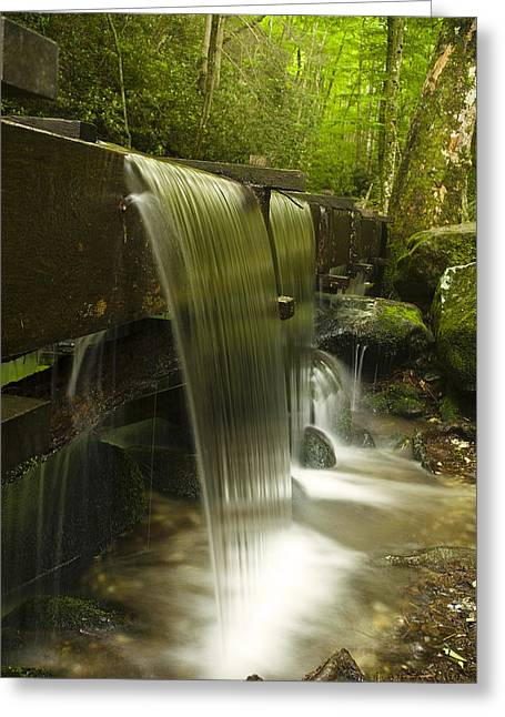 Grist Mill Greeting Cards - Flowing Water Greeting Card by Andrew Soundarajan