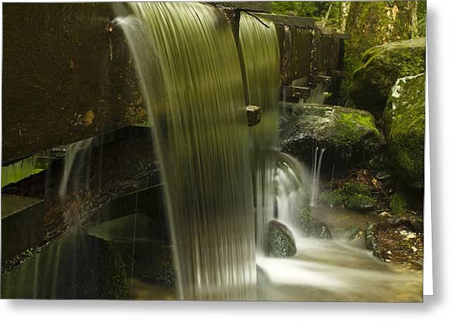 Flowing Water Greeting Card by Andrew Soundarajan
