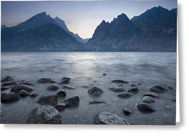 Pond Grand Tetons Greeting Cards - Flowing Water at Jenny Lake Greeting Card by Andrew Soundarajan