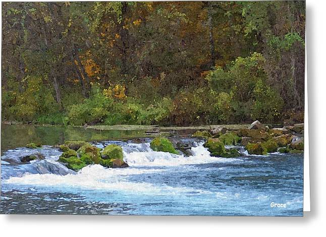 Flowing Water Greeting Card by Julie Grace