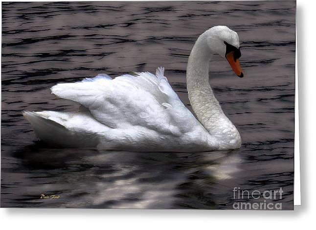 Reflection In Water Greeting Cards - Fluffy Greeting Card by Dale   Ford