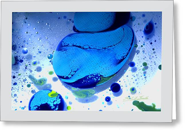 Aspect Mixed Media Greeting Cards - FLUIDISM Aspect 166 Frame Greeting Card by Robert G Kernodle