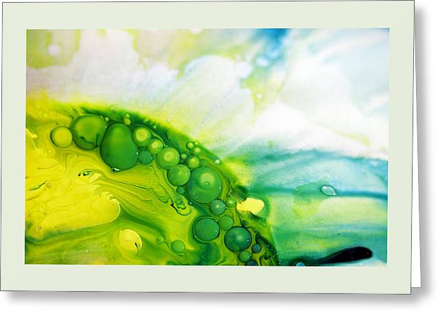 Aspect Mixed Media Greeting Cards - FLUIDISM Aspect 35 Frame Greeting Card by Robert G Kernodle