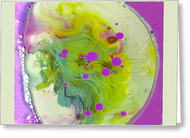 Aspect Mixed Media Greeting Cards - FLUIDISM Aspect 459 Frame Greeting Card by Robert G Kernodle