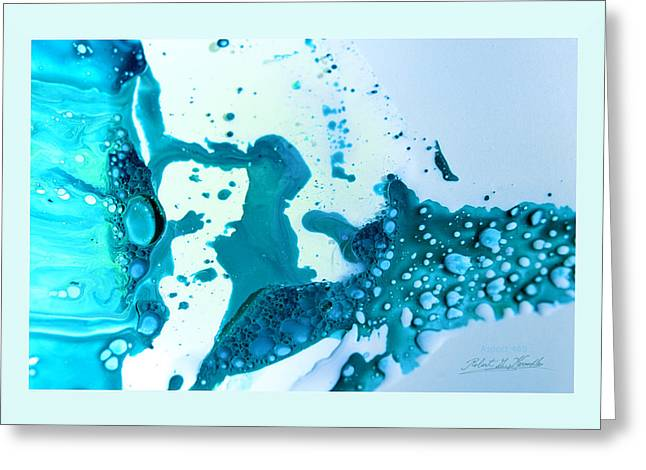 Aspect Mixed Media Greeting Cards - FLUIDISM Aspect 468 Frame Greeting Card by Robert G  Kernodle