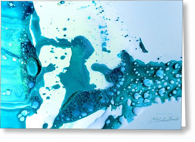 Aspect Mixed Media Greeting Cards - FLUIDISM Aspect 468 PHOTOGRAPHY Greeting Card by Robert G Kernodle
