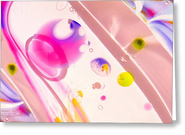 Aspect Mixed Media Greeting Cards - FLUIDISM Aspect 561 PHOTOGRAPHY Greeting Card by Robert G Kernodle