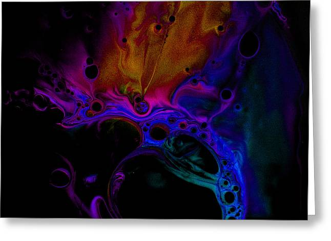 Aspect Mixed Media Greeting Cards - FLUIDISM Aspect 601-B PHOTOGRAPHY Greeting Card by Robert G Kernodle