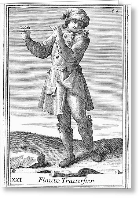 Flute, 1723 Greeting Card by Granger