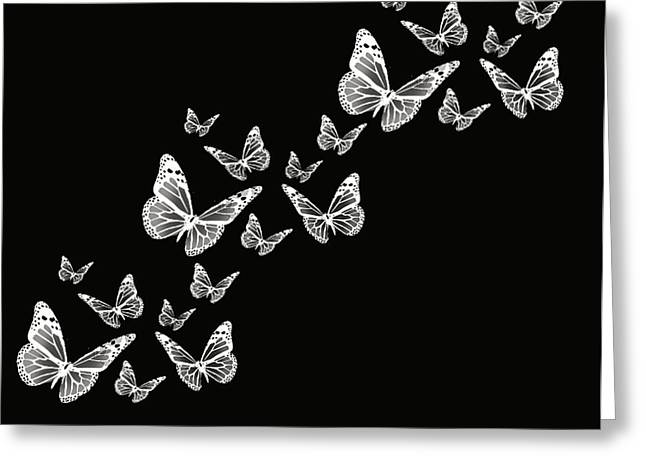 Butterfly Digital Art Greeting Cards - Fly Away Greeting Card by Lourry Legarde