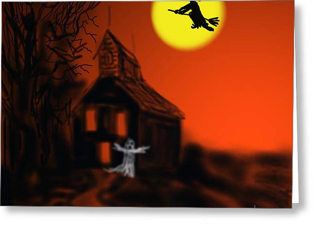 Fly By Night Greeting Card by Kevin Caudill