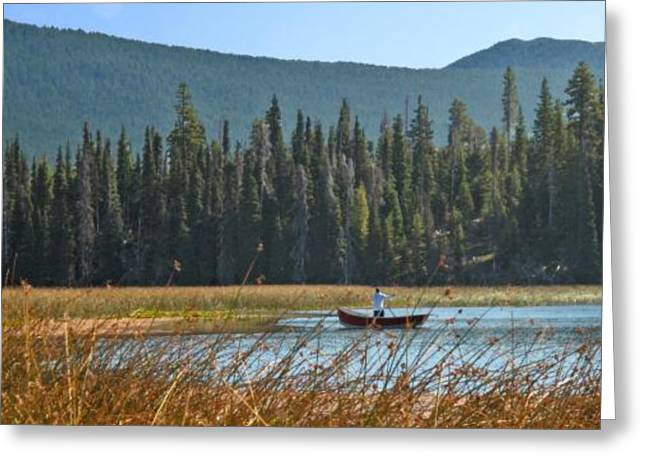 Larry Darnell Greeting Cards - Fly Fishing Hosmer Lake Larry Darnell Greeting Card by Larry Darnell