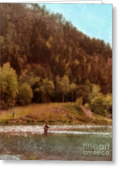 Fly Fishing Greeting Card by Jill Battaglia
