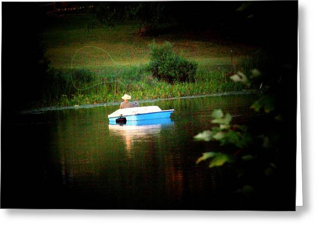 Fly Fishing Greeting Card by Michael L Kimble