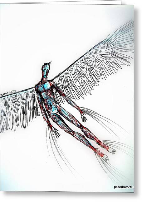 Audacity Greeting Cards - Fly Greeting Card by Paulo Zerbato