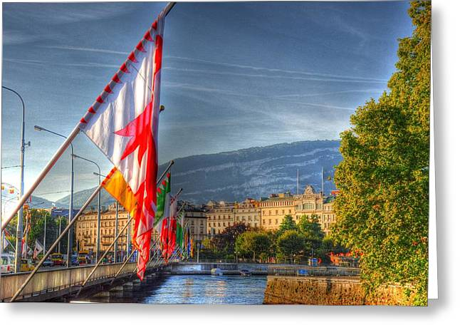 Czech Flag Greeting Cards - Flying Flags Greeting Card by Barry R Jones Jr