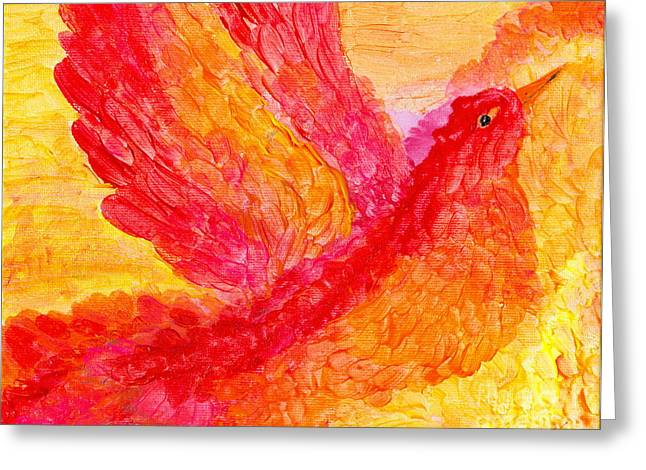 Flying Free Greeting Card by Denise Hoag