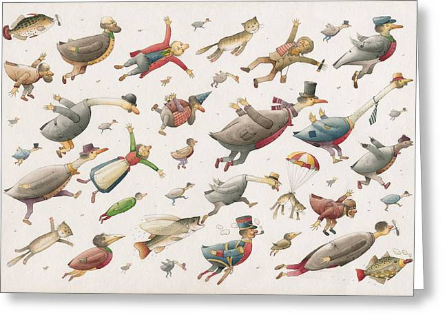 Flying Greeting Card by Kestutis Kasparavicius