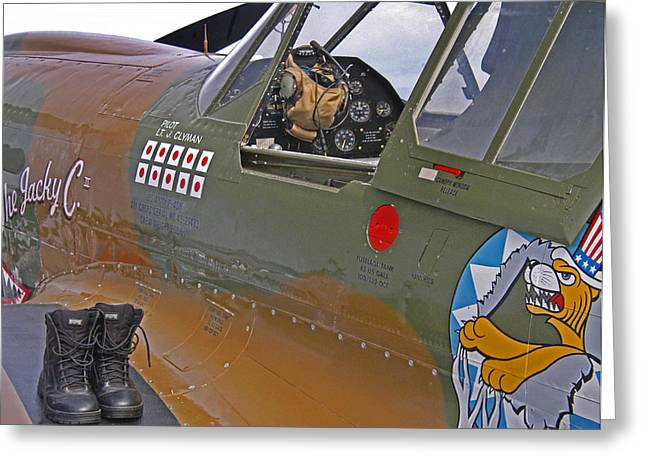 Claire Lee Greeting Cards - Flying Tigers 02 Greeting Card by Jeff Stallard