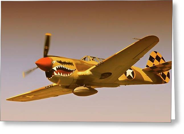 Chang Greeting Cards - Flying Tigers Greeting Card by Gus McCrea