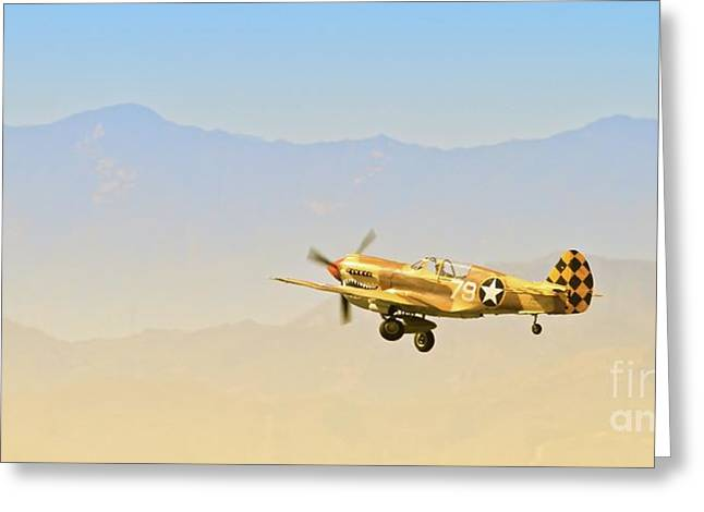 Flying Tigers Greeting Cards - Flying Tigers To Angels Ten Greeting Card by Gus McCrea