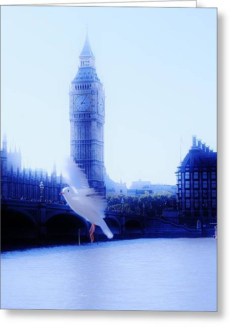 Xoanxo Cespon Greeting Cards - Flying Time Greeting Card by Xoanxo Cespon