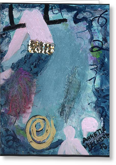 Althea Paintings Greeting Cards - Flying Without a Net Greeting Card by Annette McElhiney