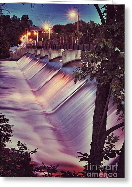 Appleton Greeting Cards - Foaming Fox River Greeting Card by Shutter Happens Photography