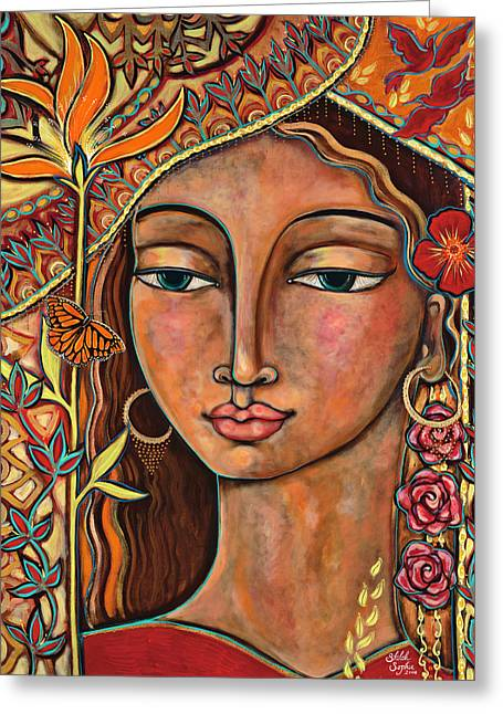 Bird Of Paradise Greeting Cards - Focusing On Beauty Greeting Card by Shiloh Sophia McCloud