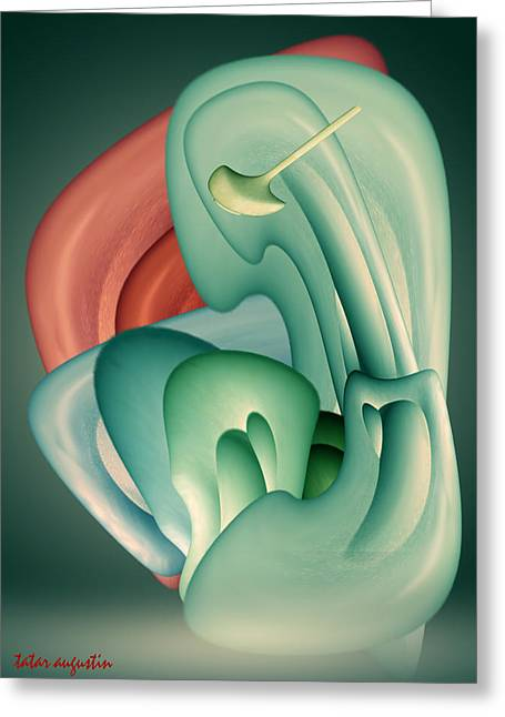 Poetry Of Real Life Greeting Cards - Foetus Greeting Card by Augustin  Tatar