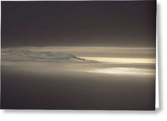 Fog And Sunlight Over Polar Greeting Card by Gordon Wiltsie