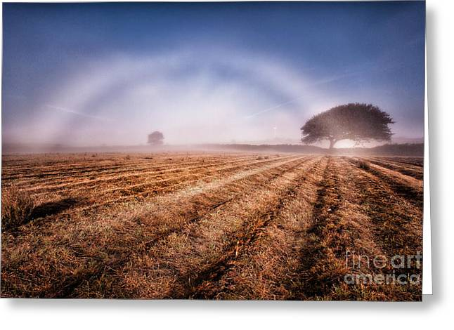 Kernow Greeting Cards - Fog bow Greeting Card by John Farnan