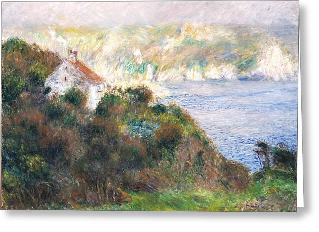Guernsey Greeting Cards - Fog on Guernsey Greeting Card by Pierre Auguste Renoir