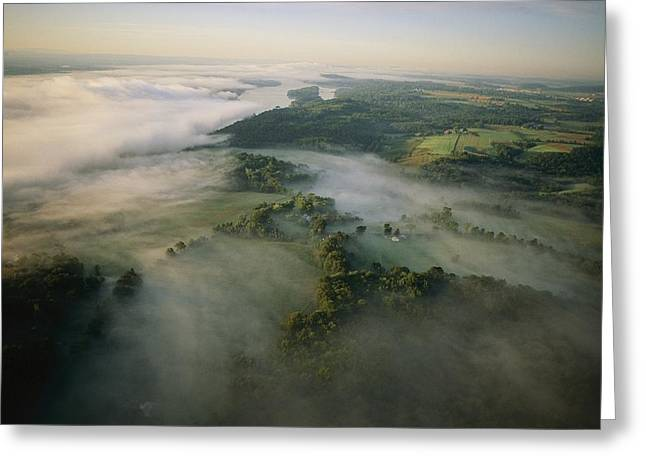 Saugerties Greeting Cards - Fog Settles Into The Hudson River Greeting Card by Melissa Farlow